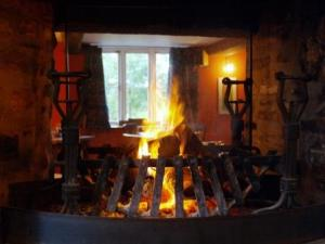 A warm fire awaits inide the Felin Fach Griffin Inn