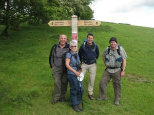 Visitors on a guided walk with Luke from Drover Holidays ©