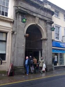 The grand entrance to Brecon Market