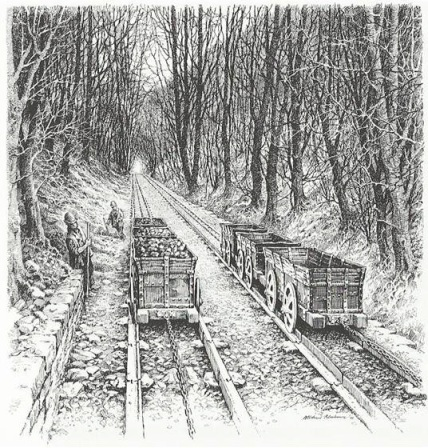 Hill's tramway reconstruction of incline. ©