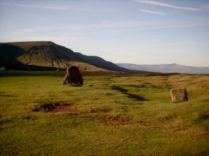 Standing stones on the Black Mountains by Drover Holidays ©