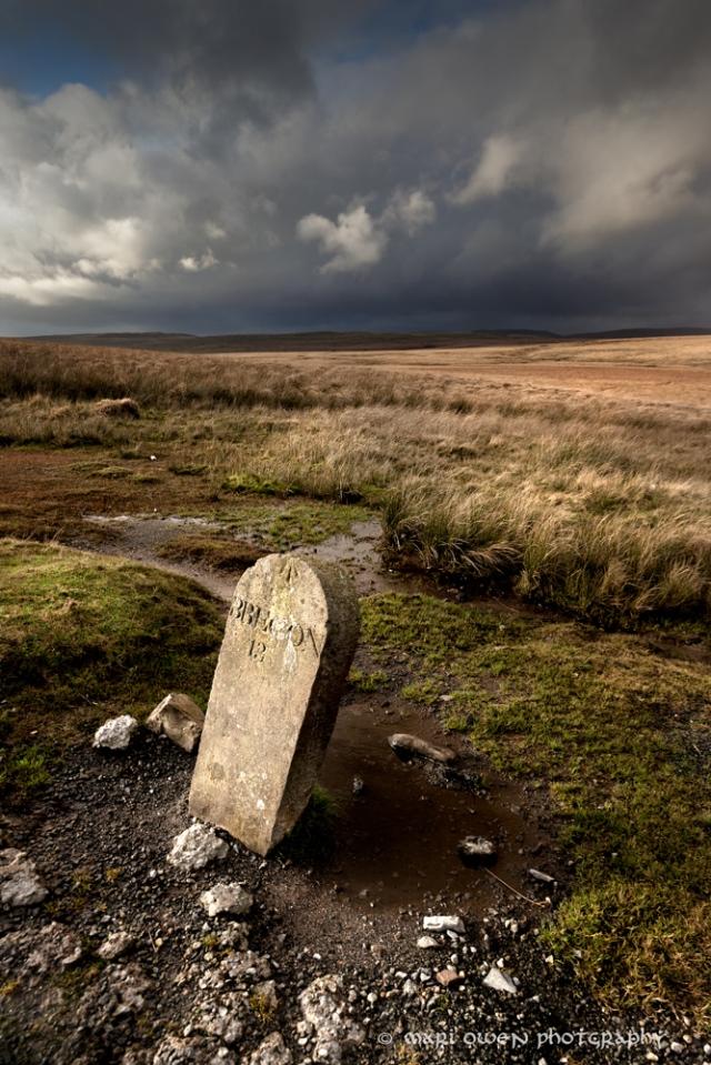 Milestone on the Penderyn Road. By Mari Owen - Photographer ©