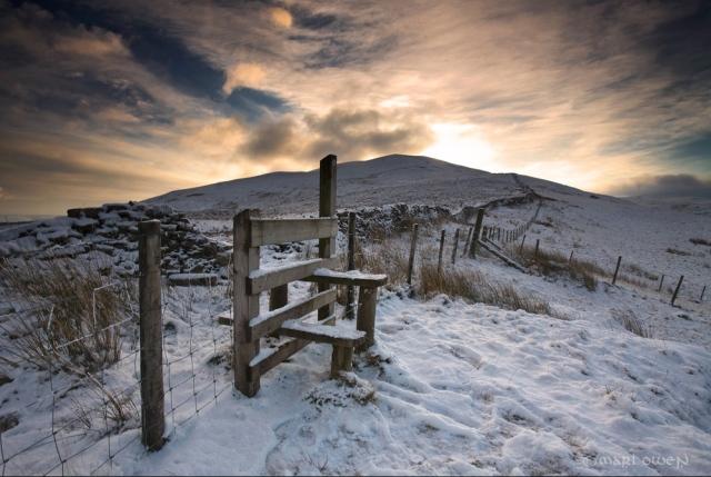 Fan Nedd – winter at the foot of Fan Nedd. By Mari Owen - Photographer ©