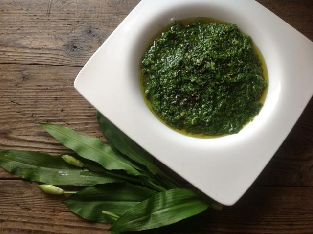 The perfect wild garlic pesto