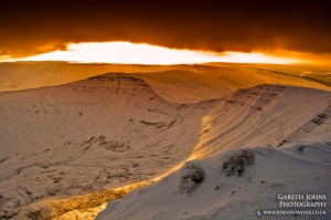 The fantastic view from Cribyn looking towards Fan-y-Big.