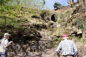 An old mine addit Cwm Grelach Geoheritage trail