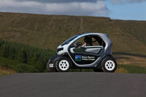 Enjoy driving a eco car in the Black Mountains