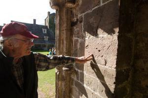 Examining Devonian Old Red Sandstone at Llantony Priory