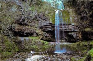 Henrhyd waterfall the highest in South Wales
