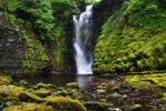 In a remote spot by one of the Brecon Beacons' picturesque waterfalls