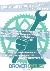 bike maintenance classes poster
