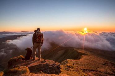 Image result for beautiful sunset brecon beacons png