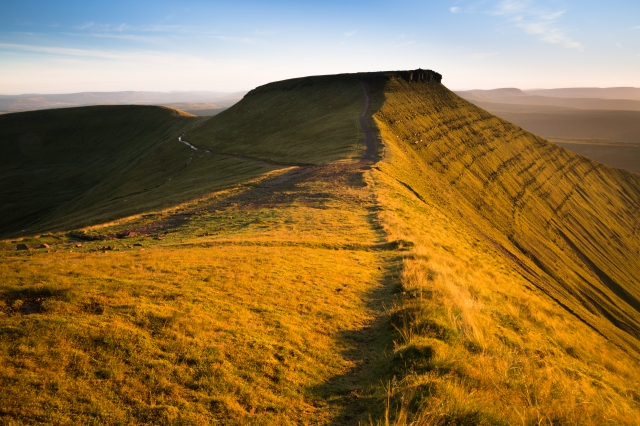 Corn Du at Sunset, Brecon Beacons, Wales, UK
